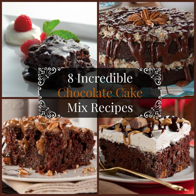 Make chocolate cake with cake mix