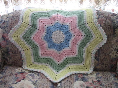 Shooting Star Baby Blanket Crochet Pattern Favecrafts Com