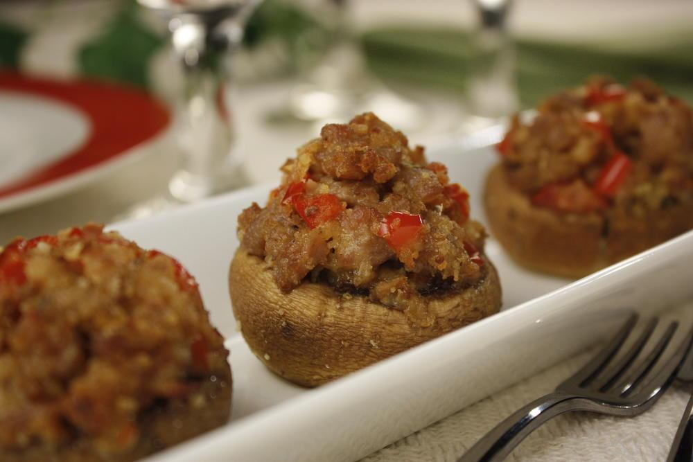 Sausage Stuffed Mushrooms | MrFood.com