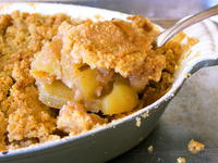 Apple Crisp with Homemade Caramel Sauce
