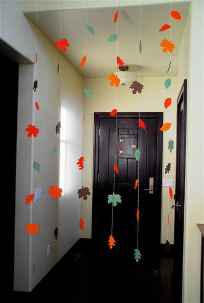 Thanksgiving Leaves Paper Garland