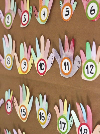 Turkey Hands Advent Calendar
