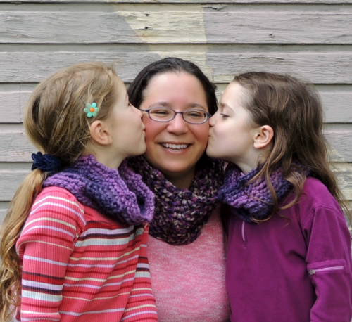 Mommy and Me Infinite Twilight Crochet Cowls