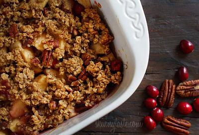 Lighter Apple Cranberry Crumble