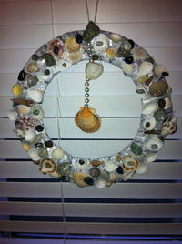 Shells and Rocks DIY Christmas Wreath