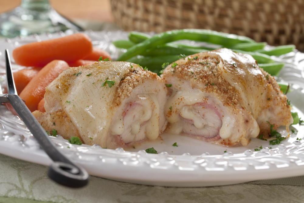 Chicken Cordon Bleu Pinwheels | MrFood.com