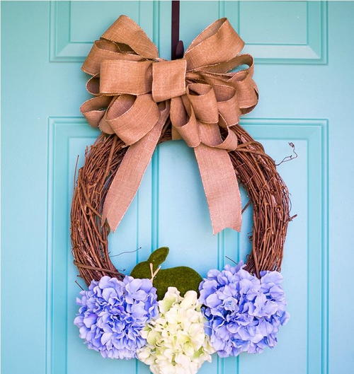 Hydrangea DIY Easter Wreath