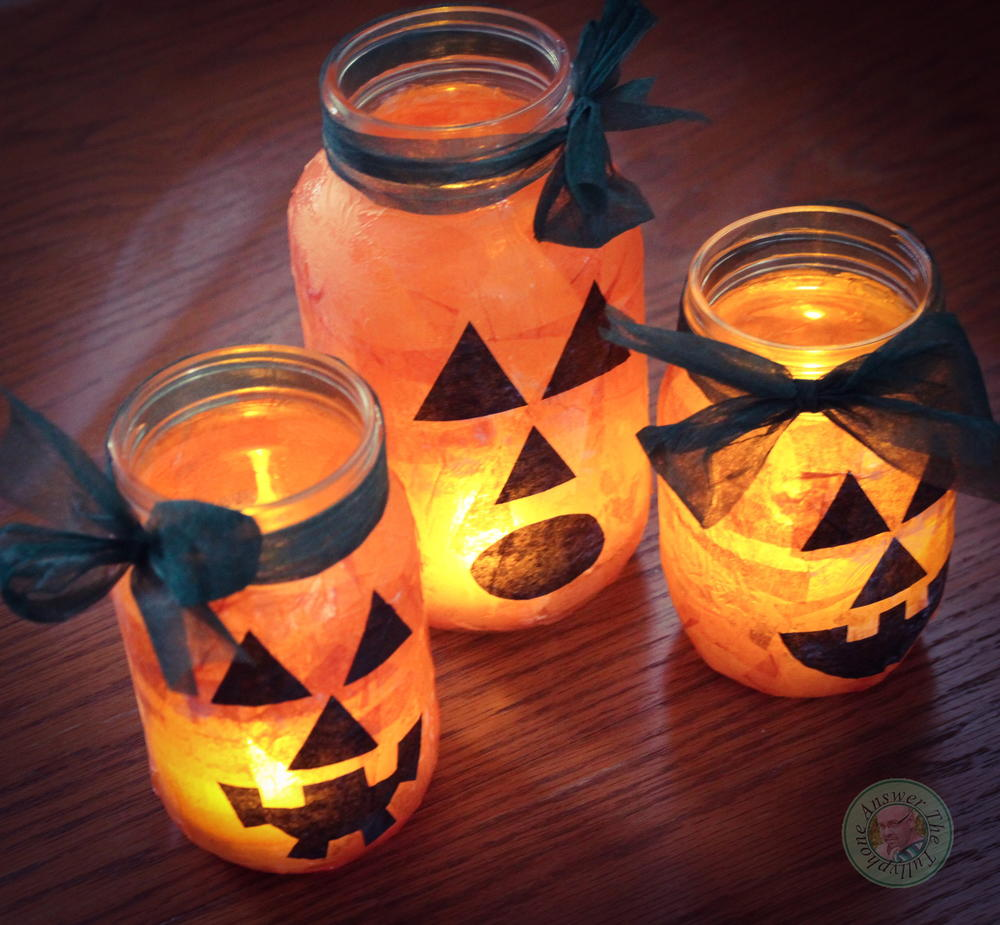 Jack o 39 lantern mason jar ideas for Best craft light reviews
