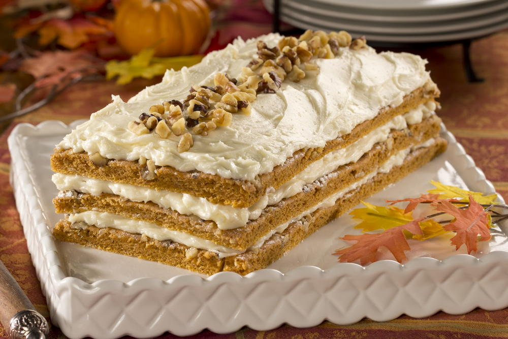 pumpkin layer cake pumpkin layer cake mrfood 6856