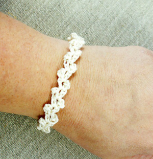 Lacy Bridal Party Crochet Bracelet