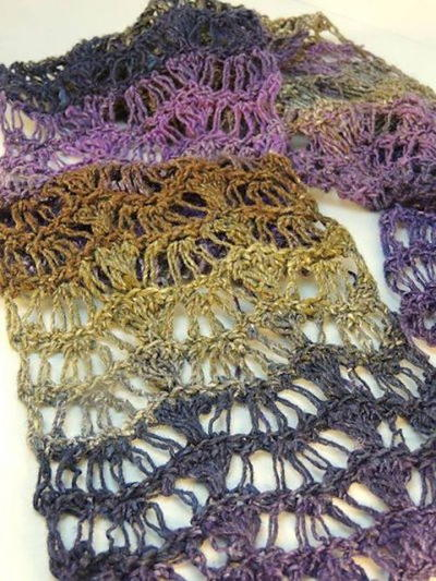 Lace Waves Crochet Scarf