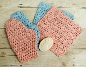 Baby Crochet Bath Set