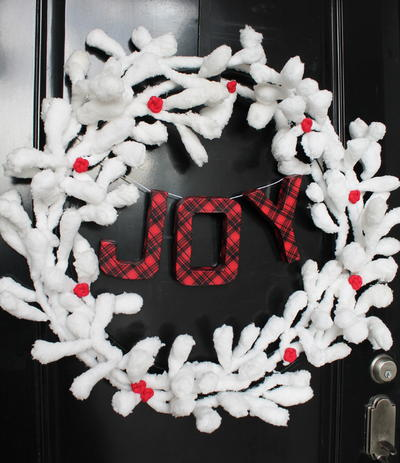 Snow and Berries DIY Wreath