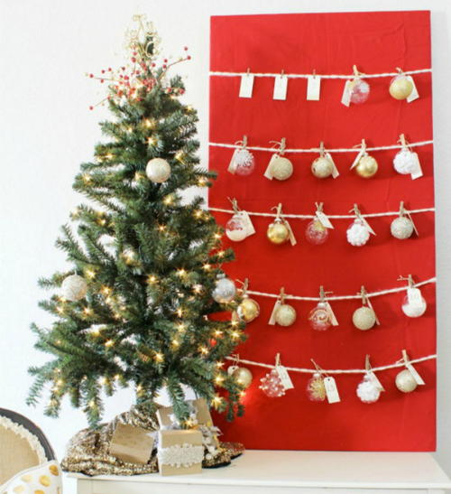 Ornament Christmas Tree Advent Calendar