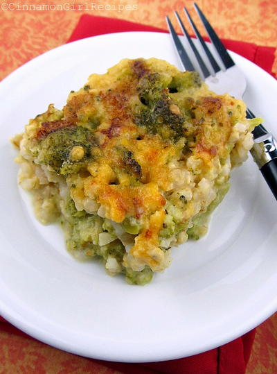 Broccoli Rice Au Gratin