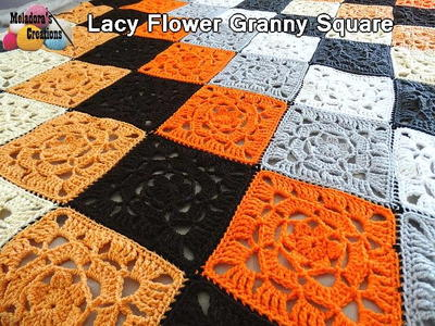 Lacy Flower Crochet Granny Square