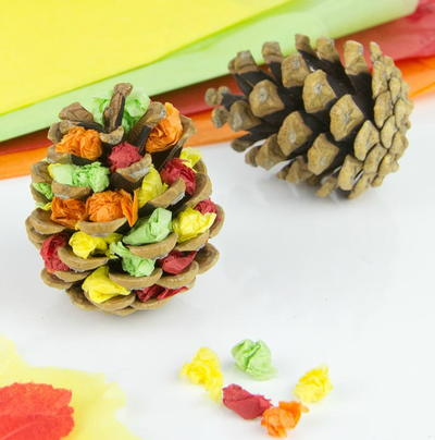Autumn Tree Pine Cone Craft