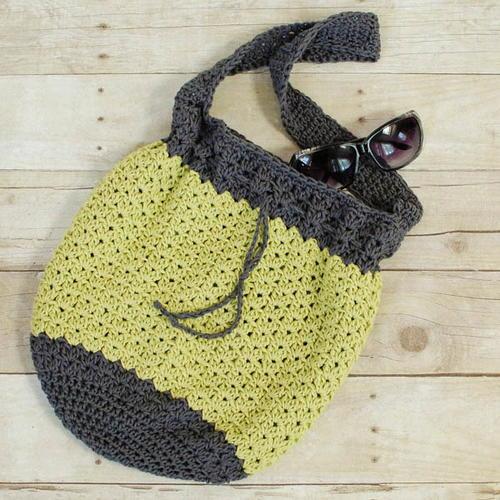 Summer Crochet Bucket Bag Allfreecrochetcom