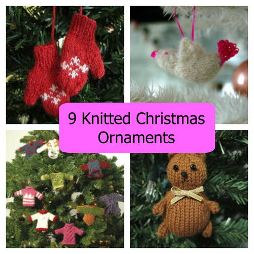 9 Knitted Christmas Ornaments
