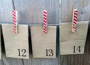 Candy Cane Clothespin Advent Calendar