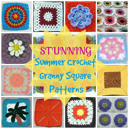 How to Crochet Granny Squares: 28 Stunning Summer Crochet Granny ...