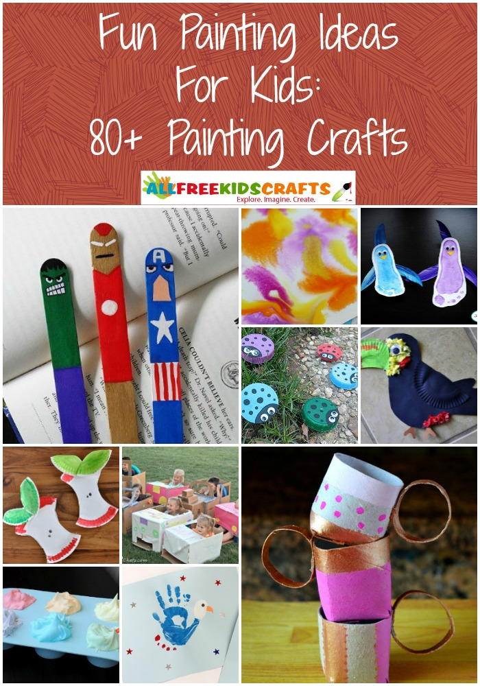 fun painting ideas for kids  80  painting crafts