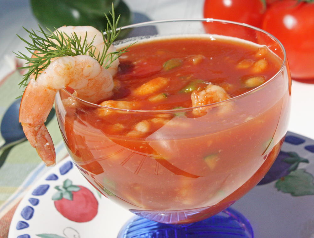 Chilled Shrimp Cocktail Soup Mrfood Com