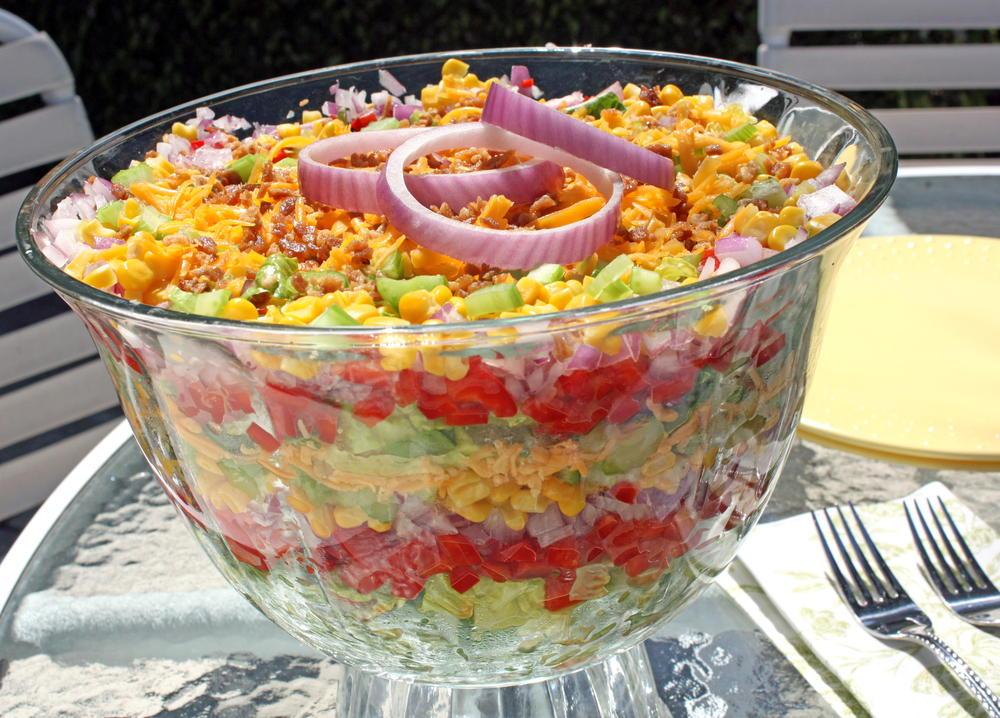 Chilled Stacked Salad  MrFood.com