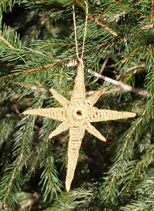 Star of Bethlehem Crochet Ornament