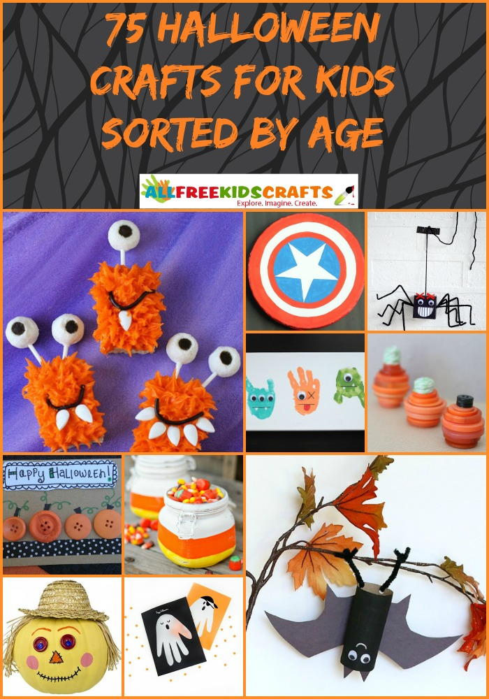 75 halloween crafts for kids sorted by age for Fun crafts for all ages