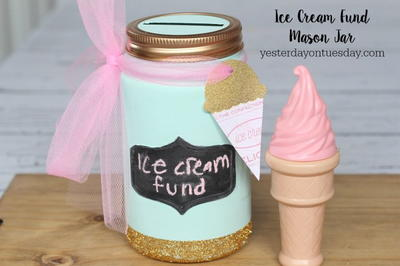 Ice Cream Fund Mason Jar Craft