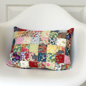 Colorful Quilted DIY Pillow