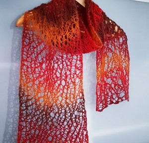 Knit Lace Stitch Scarf : Magic Lace Knit Scarf AllFreeKnitting.com