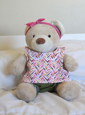 image regarding Teddy Bear Sewing Pattern Free Printable referred to as Do it yourself Teddy Undergo Outfits