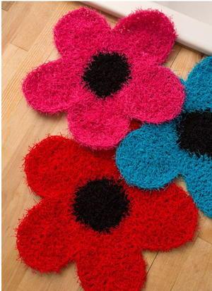 Crochet Flower Dish Scrubber