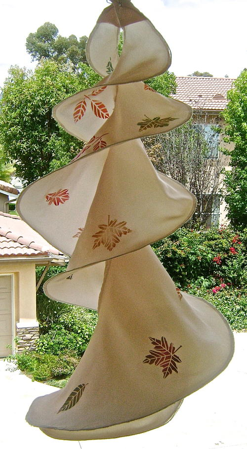 Twirling Leaves Fabric Decor