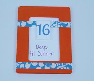 Days 'Til Summer Countdown Step 6