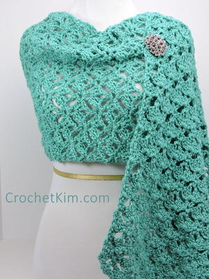 Emerald Lace Crochet Wrap