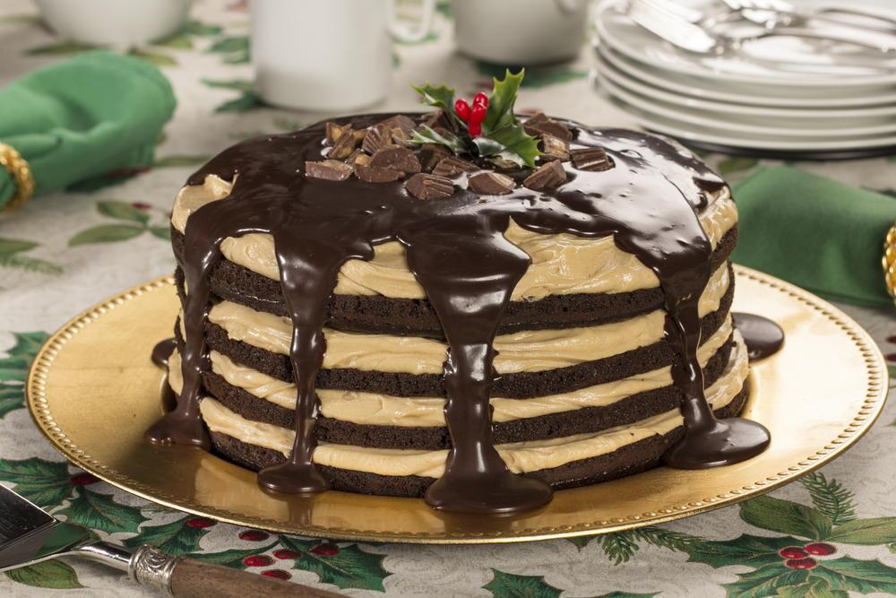 Chocolate Peanut Butter Dream Cake Mrfood Com