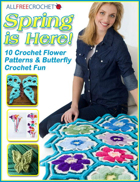 Spring is Here 10 Free Crochet Flower Patterns  Butterfly Crochet Fun