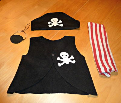 Pirate Last-Minute Halloween Costume