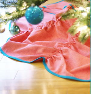 Easy Ruched Christmas Tree Skirt