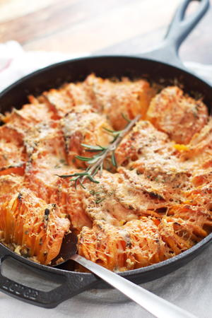 Scalloped Hasselback Sweet Potatoes