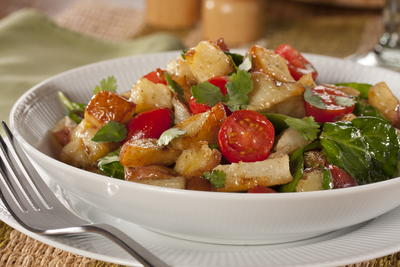 Roasted Potato Salad with Cilantro Lime Dressing