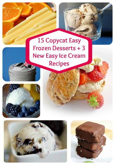 15 Copycat Easy Frozen Desserts