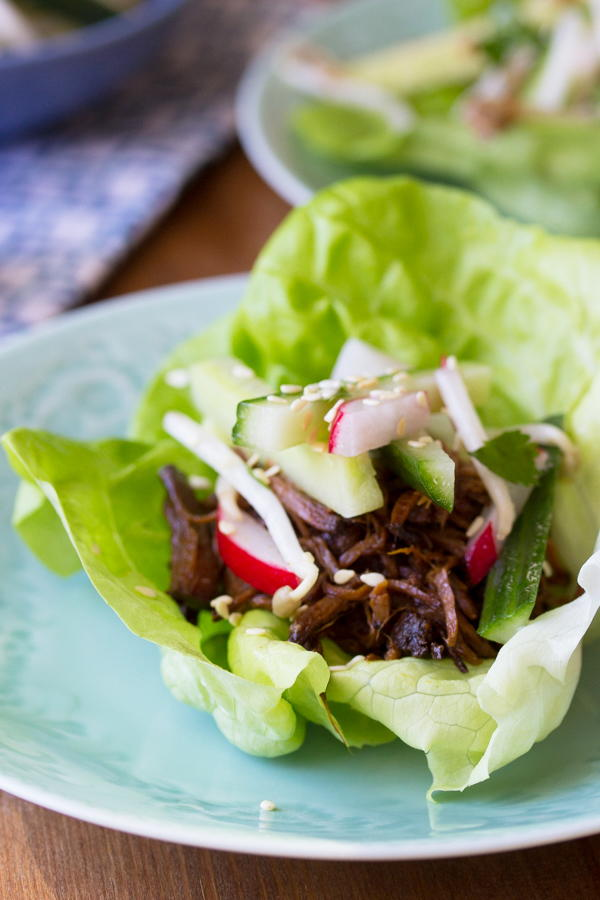 Slow Cooker Korean Beef Lettuce Wraps Recipelion Com