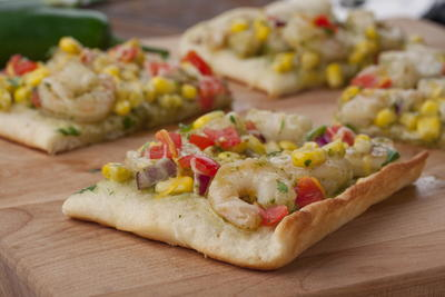Mexican Shrimp Flatbread