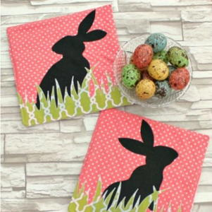Bunny Silhouette Homemade Hot Pad