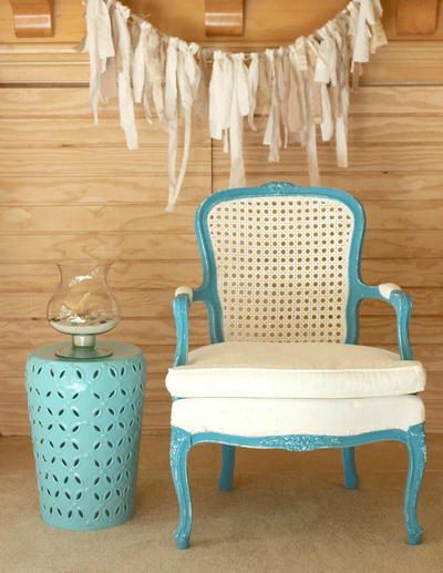 Summer Beachy Chair Makeover
