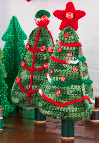 Tabletop Crochet Christmas Tree